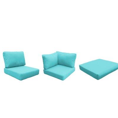 Miami 9 Piece Outdoor Cushion Set Fabric: Aruba
