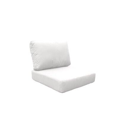 Fairmont 4 Piece OutdoorLounge Chair Cushion Set Fabric: White