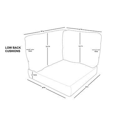 Eldredge 14 Piece Indoor/Outdoor Cushion Cover Set Fabric: Gray