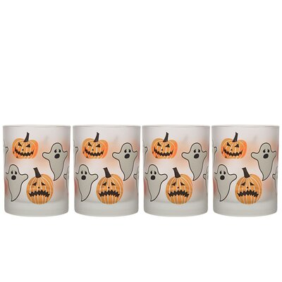 Duong Frosted Halloween 14 oz. Double Old Fashion Glass