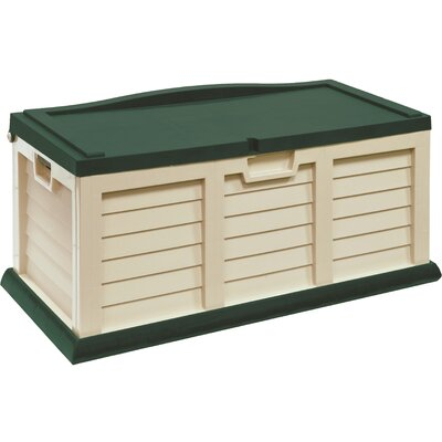 71 Gallon Plastic Deck Box Color: Beige / Green