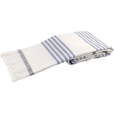 Sultan Luxury 100% Cotton Beach Towel Color: Navy Blue