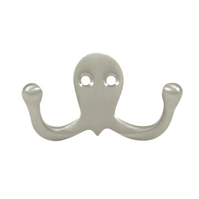 Solid Brass Coat and Hat Double Hook Finish: Oil-Rubber Bronze
