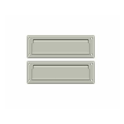 9 in x 3 in Brass Mail Slot Finish: Brushed Nickel