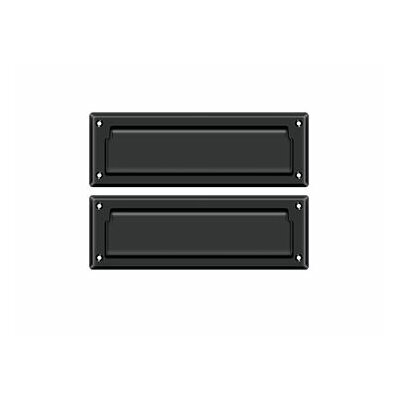 9 in x 3 in Brass Mail Slot Finish: Painted Black