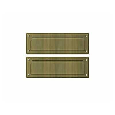 9 in x 3 in Brass Mail Slot Finish: Antique Brass