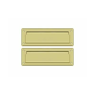 9 in x 3 in Brass Mail Slot Finish: Polished Brass