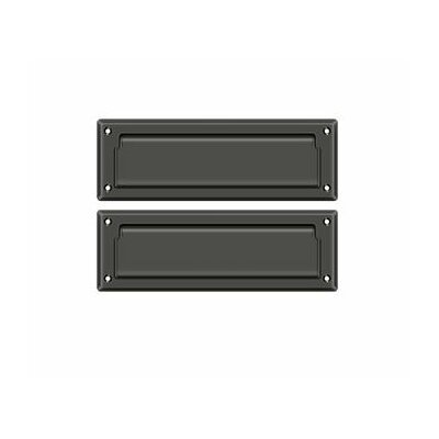 9 in x 3 in Brass Mail Slot Finish: Oil Rubbed Bronze