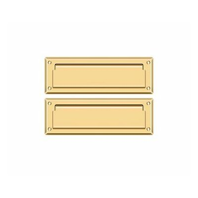 9 in x 3 in Brass Mail Slot Finish: PVD Polished Brass