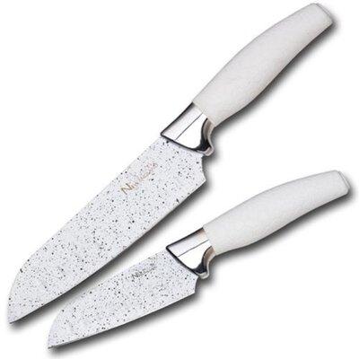 Santoku Knife Set Color: White