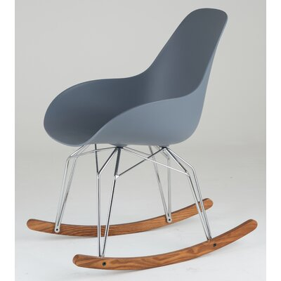 Diamond Dimple Rocking Chair Leg Color: Chrome, Frame Color: Dark Grey