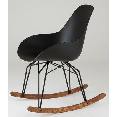 Diamond Dimple Rocking Chair Leg Color: Chrome, Frame Color: Black
