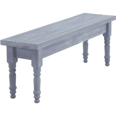 Valerie Wood Bench Color: Rustic Grey