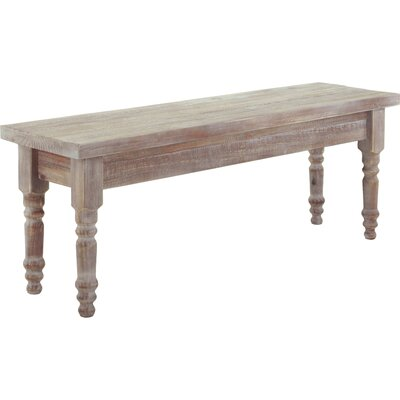 Valerie Wood Bench Color: Driftwood