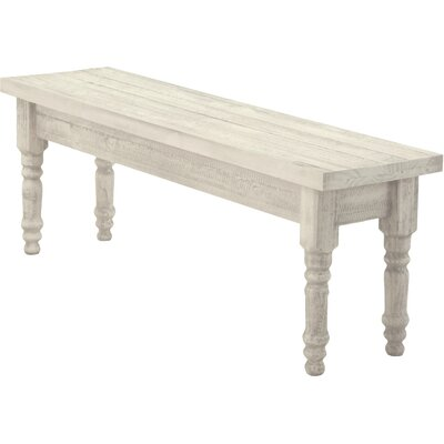 Valerie Wood Bench Color: Off White