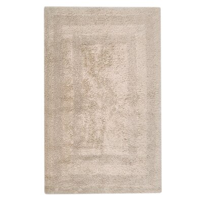 Reversible Cotton Bath Rug Size: Small, Color: Latte