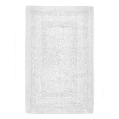 Reversible Cotton Bath Rug Size: Large, Color: White