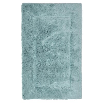 Egyptian Quality Cotton Non-Slip Bath Rug Size: Small, Color: Aqua