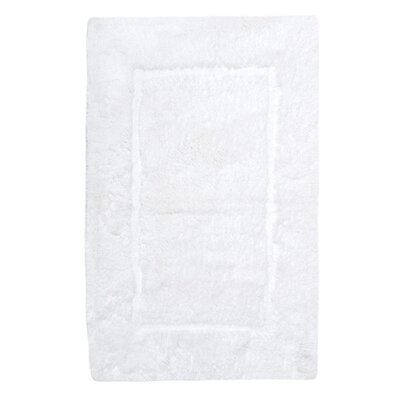 Egyptian Quality Cotton Non-Slip Bath Rug Size: Extra Large, Color: White