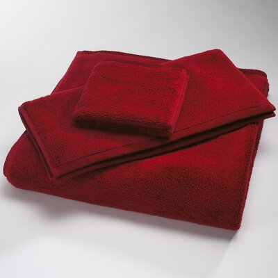 "Luxury 100% Cotton Bath Towel Size: Body Sheet Towel: 34"" x 70"", Color: Claret"
