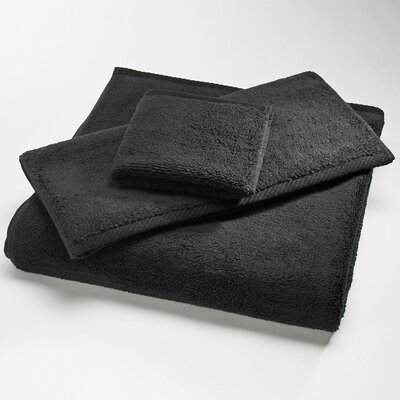 "Luxury 100% Cotton Bath Towel Size: Shower Towel: 30"" x 60"", Color: Black"