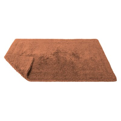 Reversible Cotton Bath Rug Size: Large, Color: Paprika