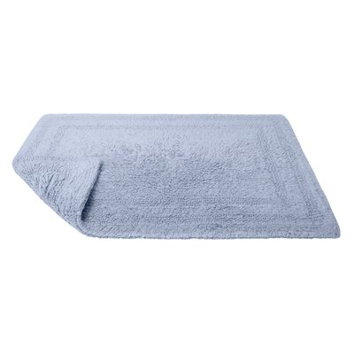 Reversible Cotton Bath Rug Size: Large, Color: Periwinkle