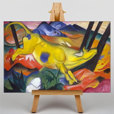 Big Box Art The Yellow Cow No.2 by Franz Marc Art Print on Canvas