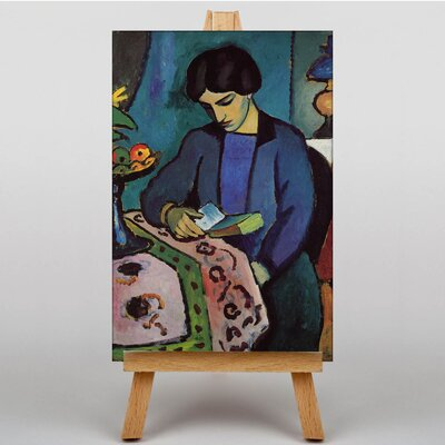 Big Box Art Woman Reading by August Macke Art Print on Canvas
