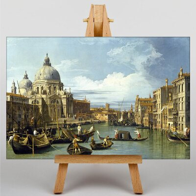 Big Box Art Entrance to the Grand Canal by Giovanni Canaletto Art Print on Canvas