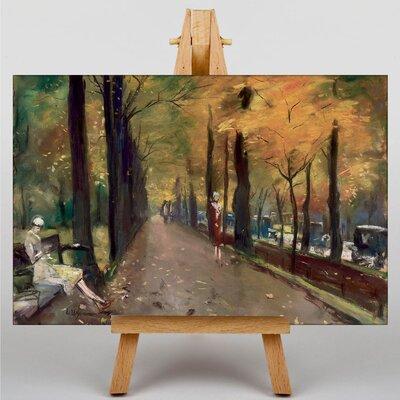 Big Box Art Autumn Alley by Lesser Ury Art Print on Canvas