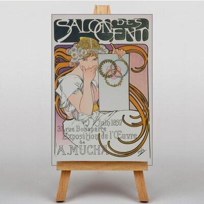 Big Box Art Salon Des Cent No.1 by Alphonse Mucha Vintage Advertisement on Canvas