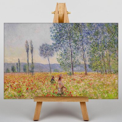 Big Box Art Walking in the Fields by Claude Monet Art Print on Canvas