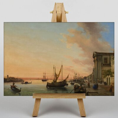 Big Box Art Boat at Port by Bernado Bellotto Canaletto Art Print on Canvas