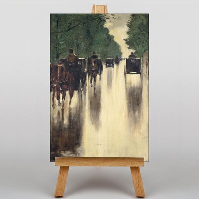 Big Box Art Horses and Carriages by Lesser Ury Art Print on Canvas
