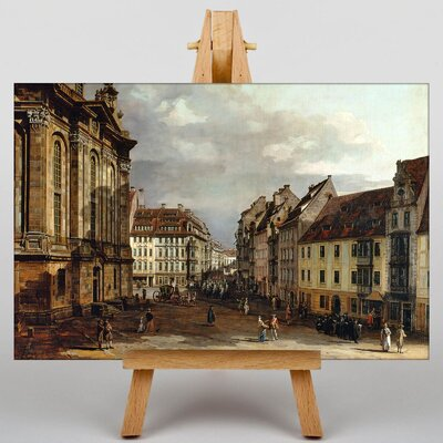Big Box Art Landscape with Buildings No.1 by Bernado Bellotto Canaletto Art Print on Canvas