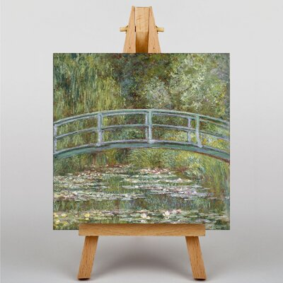 Big Box Art Japanese Bridge and Lilies by Claude Monet Art Print on Canvas