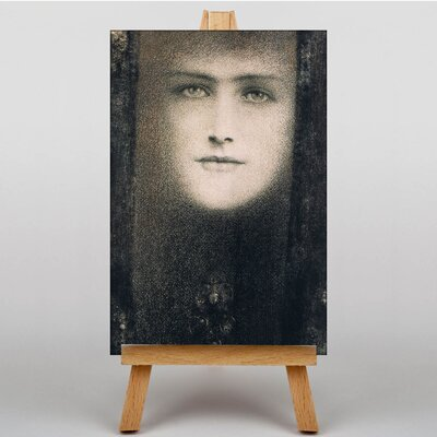 Big Box Art Female Face by Fernand Khnopff Art Print on Canvas