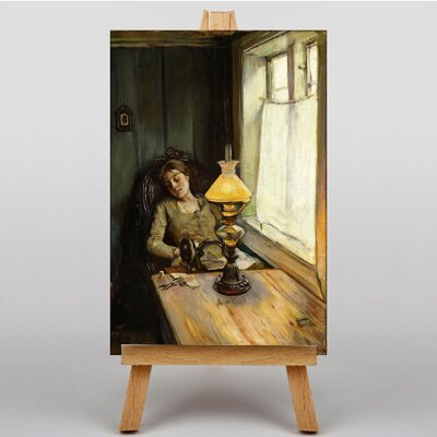 Big Box Art Tired by Christian Krohg Art Print on Canvas