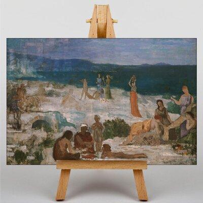 Big Box Art Pierre Puvis de Chanes Greek Colony by Pierre Puvis de Chavannes Art Print on Canvas
