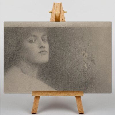 Big Box Art Study for The Offering by Fernand Khnopff Art Print on Canvas