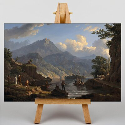 Big Box Art Landscape with Tourists at Loch Katrine by John Knox Art Print on Canvas