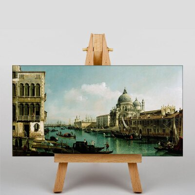 Big Box Art View of the Grand Canal by Bernado Bellotto Canaletto Art Print on Canvas