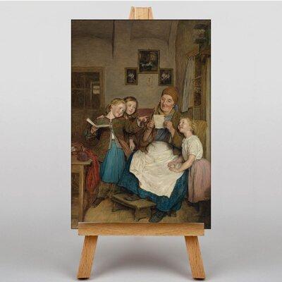 Big Box Art A Card for Grandma by Ferdinand Georg Waldmuller Art Print on Canvas