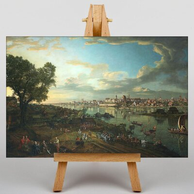 Big Box Art View of Warsaw from Prague by Bernado Bellotto Canaletto Art Print on Canvas