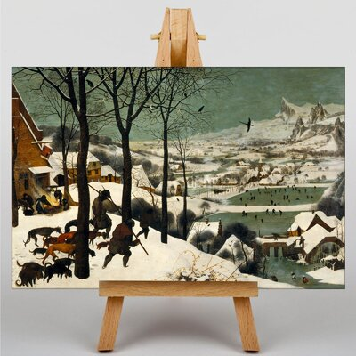 Big Box Art The Elder Hunters in The Snow by Pieter Bruegel Graphic Art on Canvas
