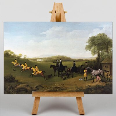 Big Box Art Racehorses Excersising by George Stubbs Art Print on Canvas