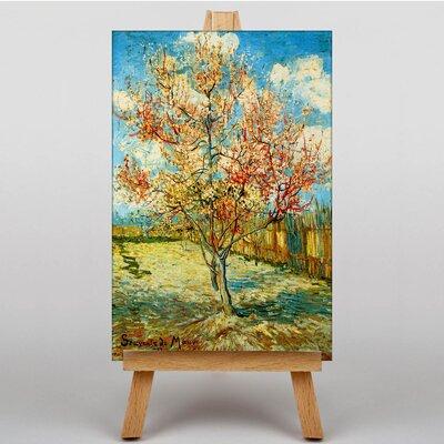 Big Box Art Peach Tree by Vincent Van Gogh Art Print on Canvas