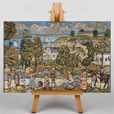Big Box Art Maurice Pendergrast Landscape near Nahant by Maurice Prendergast Art Print on Canvas