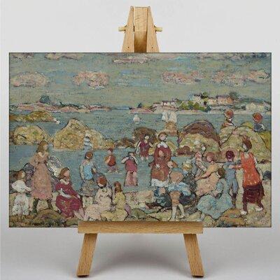 Big Box Art Maurice Pendergrast Seashore by Maurice Prendergast Art Print on Canvas